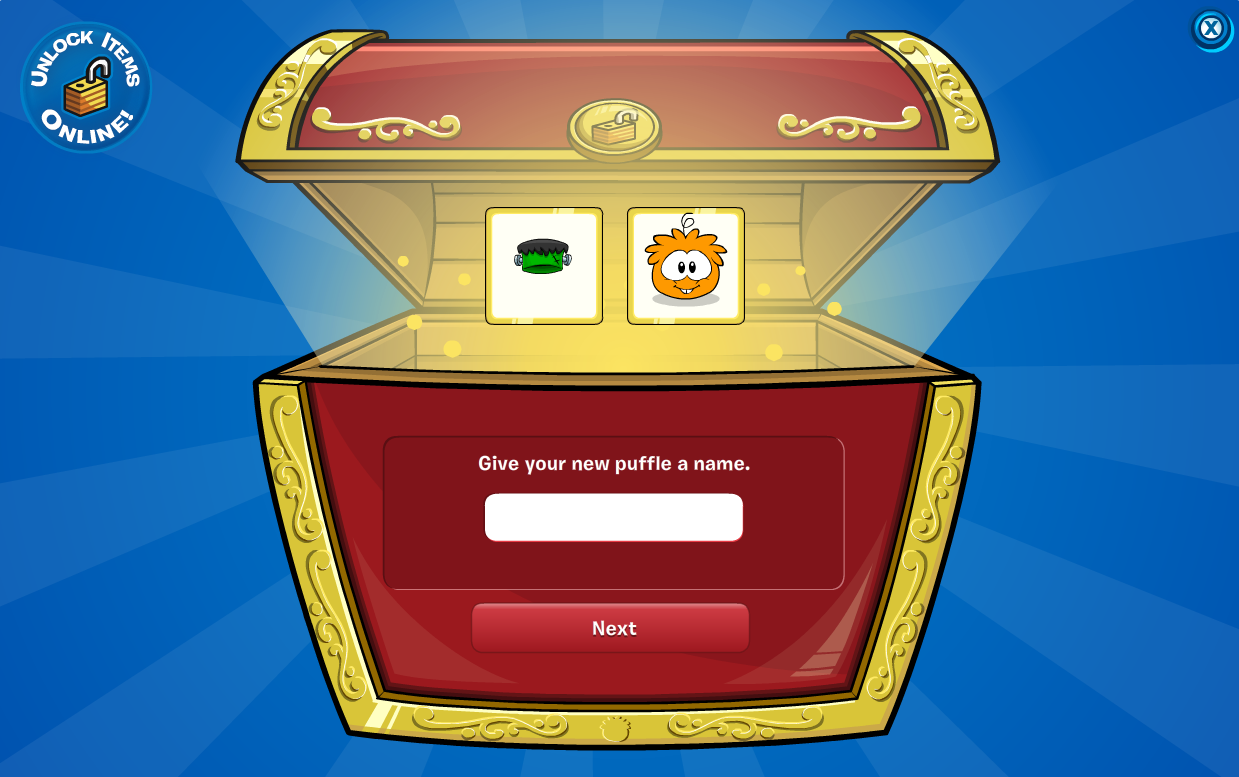 unlock the white puffle hat, and you all so get to unlock 1 item from